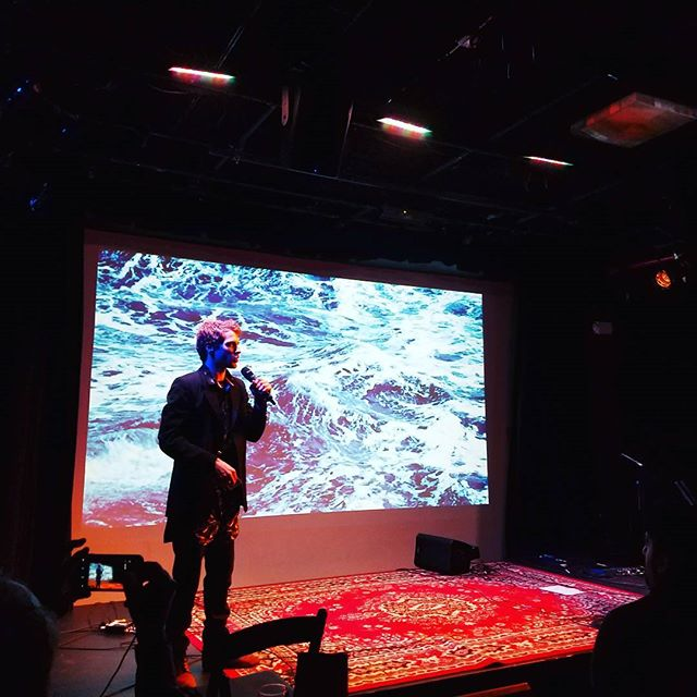 A huge congratulations to @danielsswelltunes and the whole team that put the evening together. Go to his page and check out their first music video which is part of an entire series -- all inspired by Moby Dick. 🐋 The whole production is quite stunning. Bravo!!! 👏🍾 . . #mobydick #whales #nantucket #folk #indiemusic #caveat