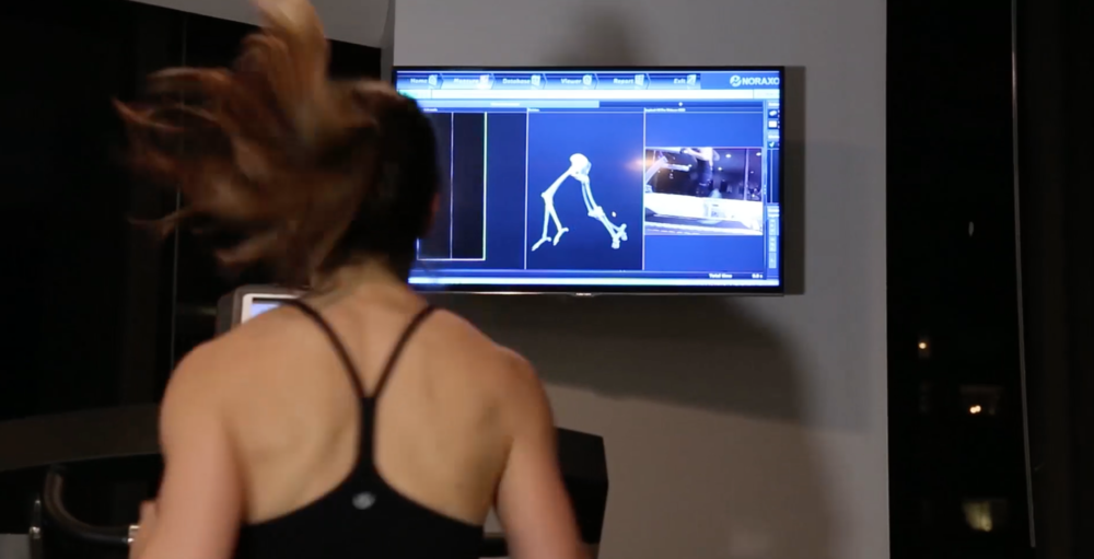Noraxon technology running assessment in New York City physical therapy clinic