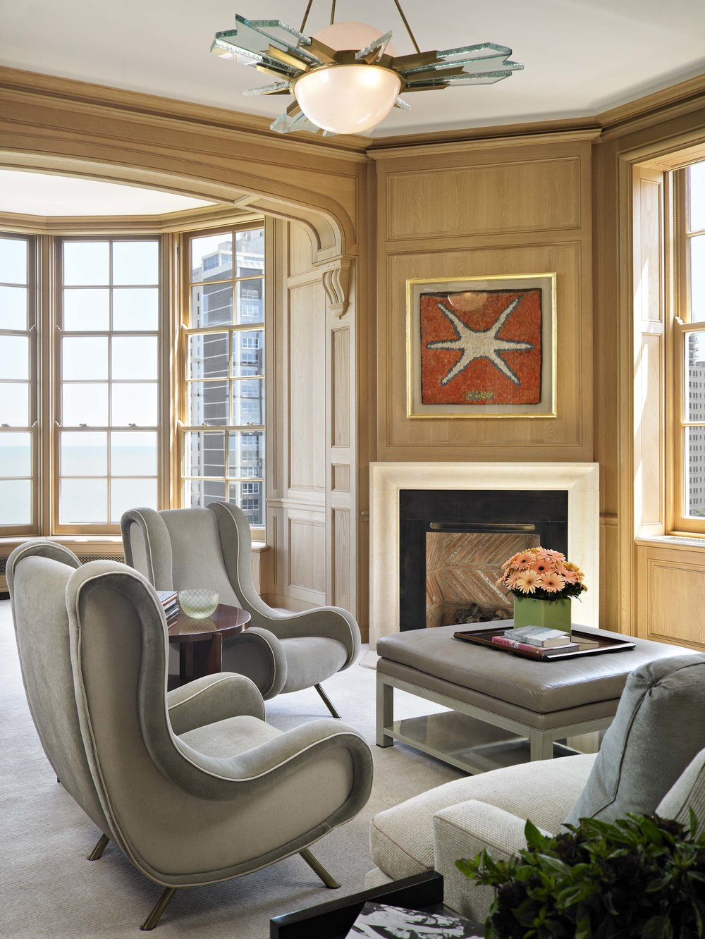Lakeshore Drive Apartment Master Sitting Room