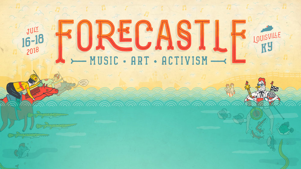 Forecastle Music Festival Poster & Illustrations
