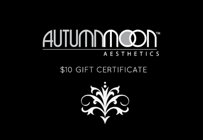 Valid toward any Autumn Moon service before 1/31/17. Not valid toward gift certificate purchases or products. No cash back value. Only one gift per person.