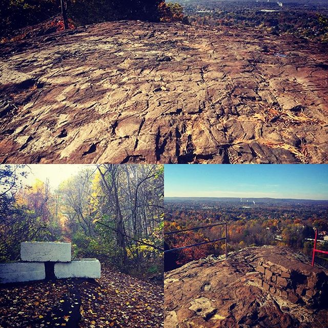 On Oct. 29th volunteers from the Loureiro company in Plainville spent the day at Pinnacle Rock working on graffiti coverup, garbage cleanup, and trail work. Pictured here are graffiti coverup efforts at the top of the cliff and the approach trail.  Thank you Loureiro for your dedication to your town!