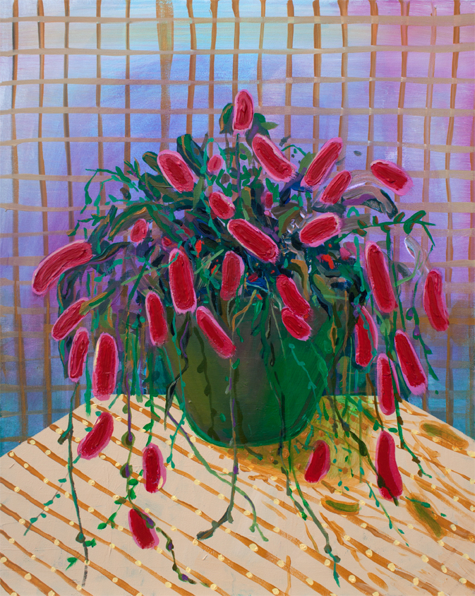Chenille Plant,  acrylic on canvas panel, 16 x 20 inches, 2015