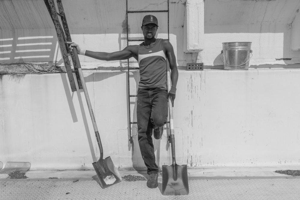"Refugee Farmer, 20""x26"", Silver Gelatin Print, 2014"
