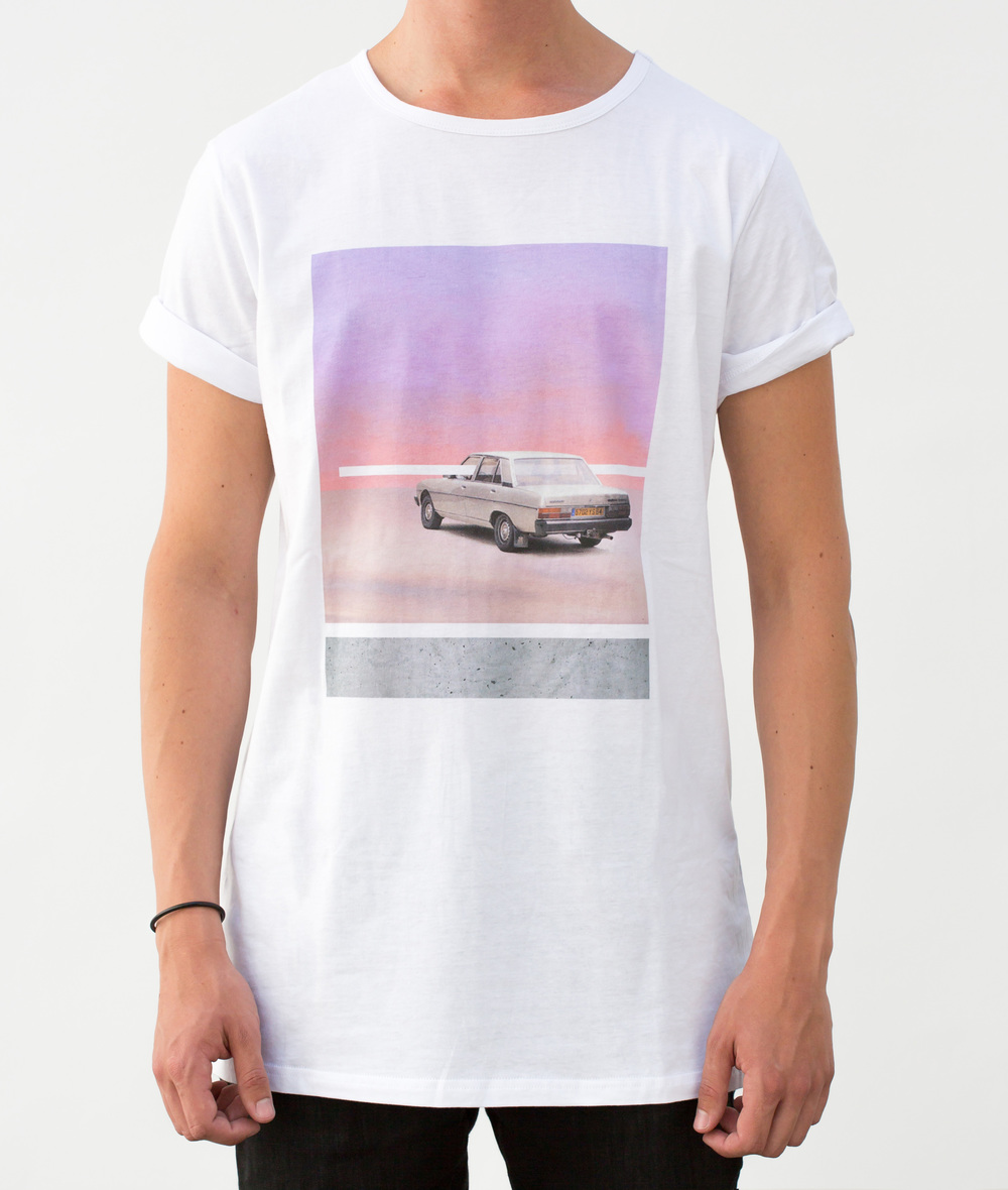 EPOQUE fashion - Car and sky T-shirt white longline