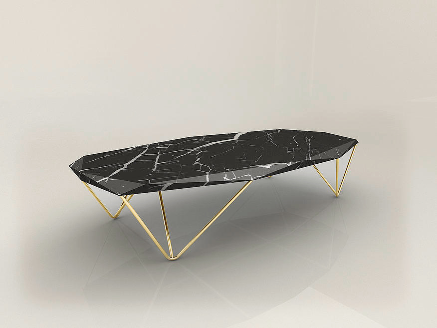EPOQUE Liquid Marble Black Coffee Table Interior Design By Daniel Zeisner  Zeisnerdesign Golden Legs  ...