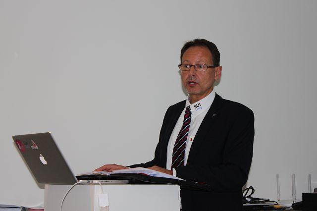 Präsident Theo Naef anlässlich der Generalversammlung.
