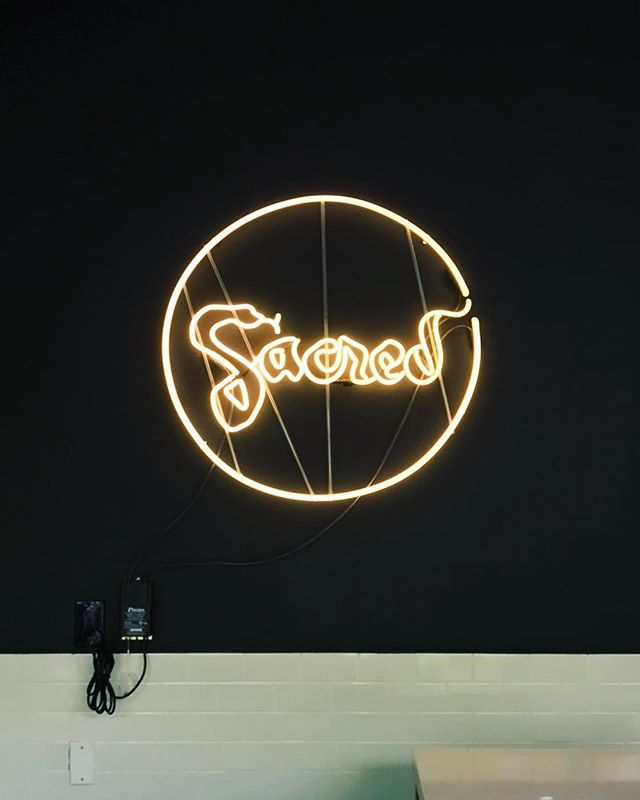 Install today at @sacredbrooklyn looking good 👌🏼 . #precisionneon #neonshop #neonart #brooklyn #nyc #gowanus #ftgreene #yogastudio #sacred #customneon