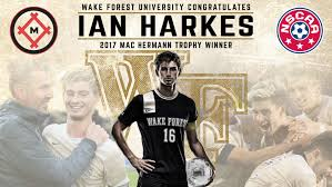 Ian Harkes from gonzaga prep in Washington, dc played in the 2012 all-american game.  he was named the 2017 mac hermann trophy winner as the top college player in the nation.  he signed a homegrown contract with d.c. united in 2017.