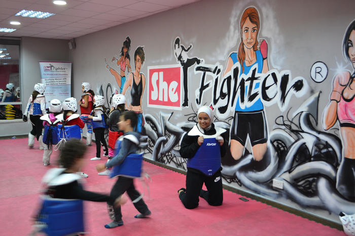 She Fighter also holds classes for young girls and boys.