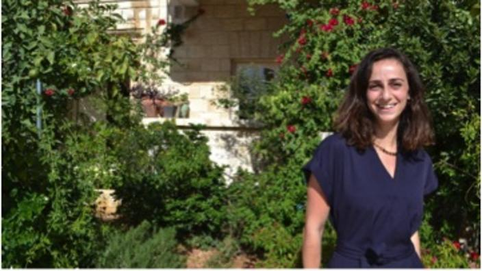 Maria Haddad, in the garden of her grandmother's home.