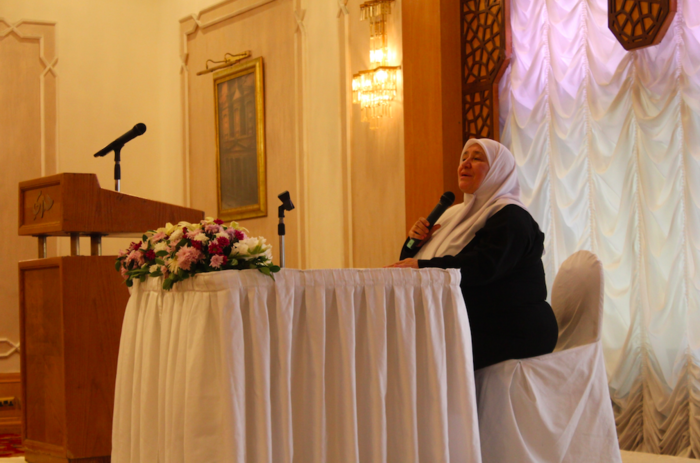 Khawla Basheer Abdeen has been preaching Islam for 42 years. (Photo by Charlotte Grieve)