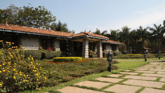 Issac Mathai's Ayurvedic clinic in Bangalore.