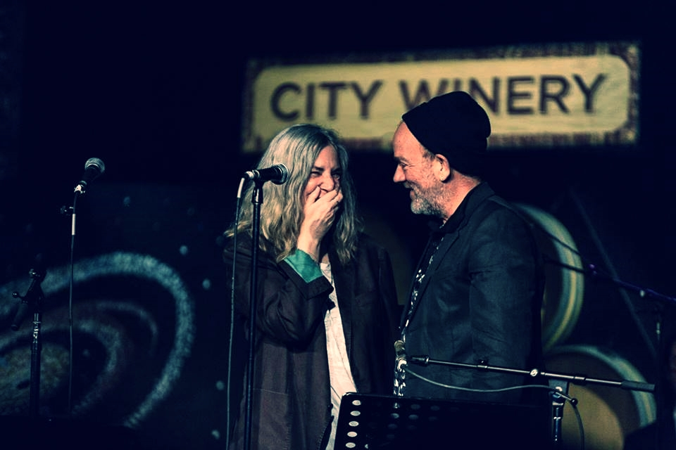Patti Smith and Michael Stipe