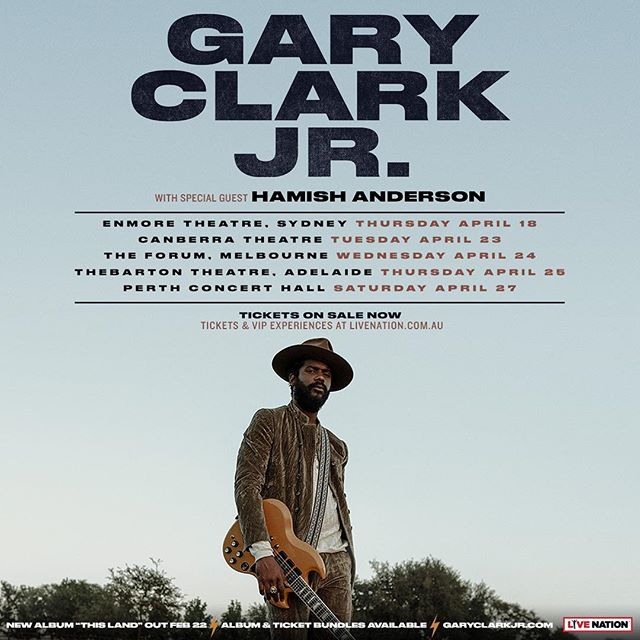 AUSTRALIA! Beyond excited to share that I'll be opening for modern legend @garyclarkjr on his Australian tour! Tickets on sale now, Can't wait to play at home! Let's go 2019! 🇦🇺 🎸⚡️ #australia #tour #garyclarkjr
