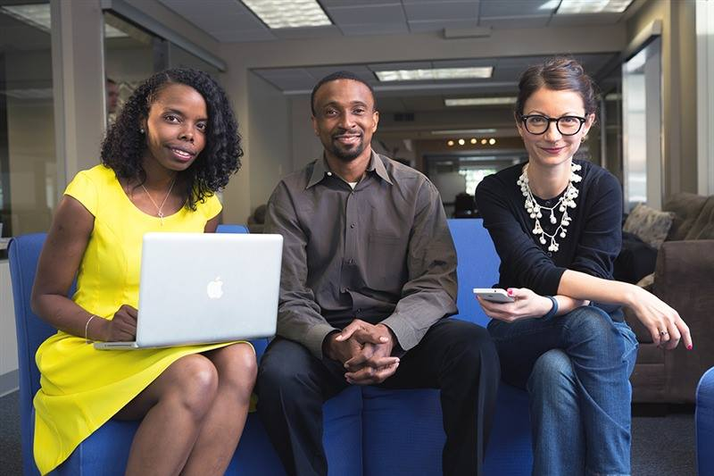 CODECREW co-founders, left to right: Audrey Jones, Meka Egwuekwe and Petya Grady.