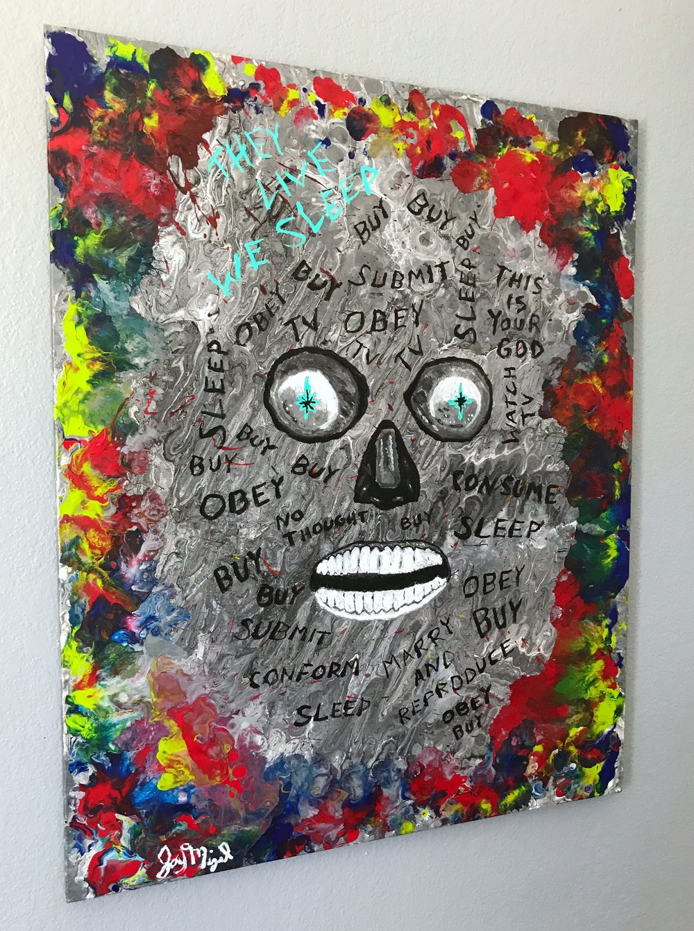 'All Out of Bubblegum'   30'' x 24''  Mixed Media on Canvas  $250