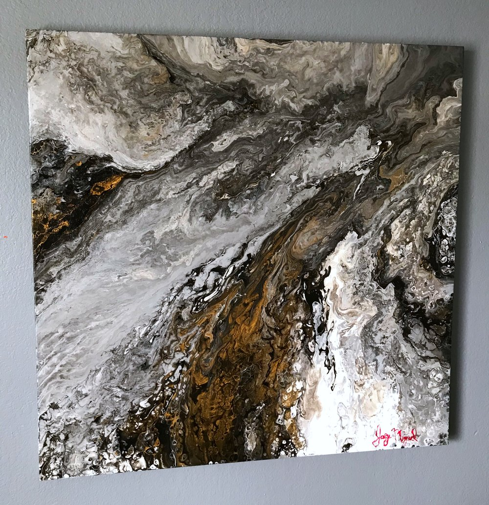 'Zeus'   36'' x 36''  Mixed Media on Canvas  $650