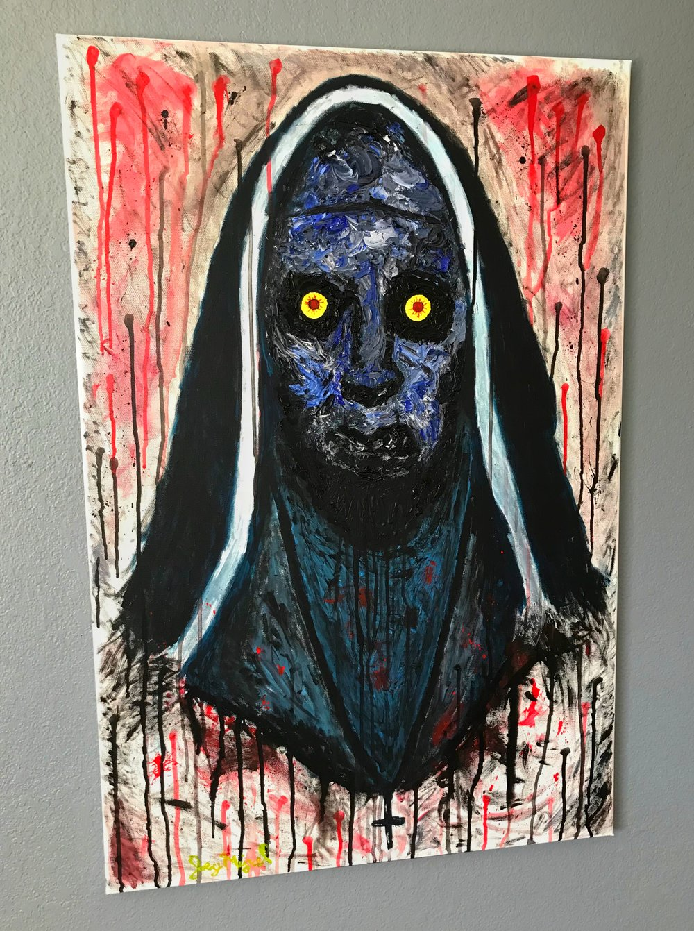 'Valak'   36'' x 24''  Mixed Media on Canvas  $200