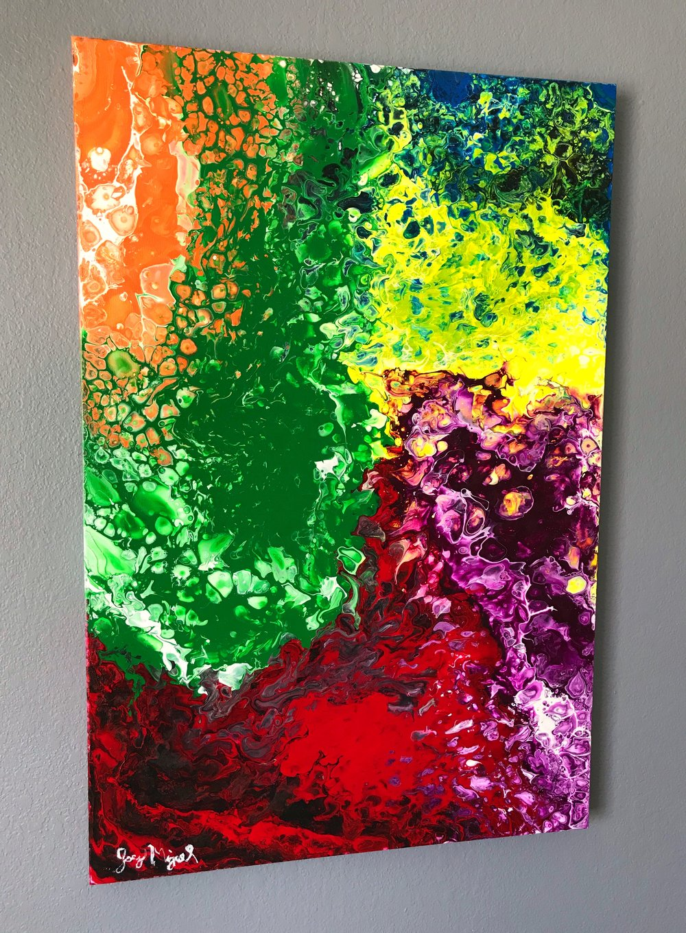 'Infinity'   36'' x 24''  Mixed Media on Canvas  $400 *SOLD*