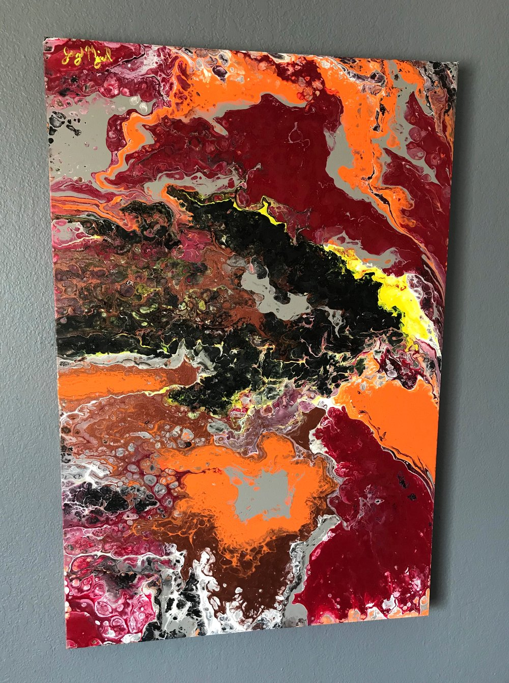 'IT'   36'' x 24''  Mixed Media on Canvas  $400