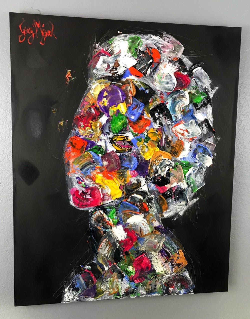 'Midnight Illusion'   30'' x 24''  Oil on Canvas  $375