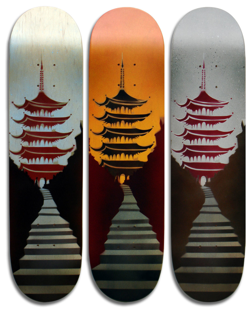 """Pagoda"" Skateboard Deck Series"