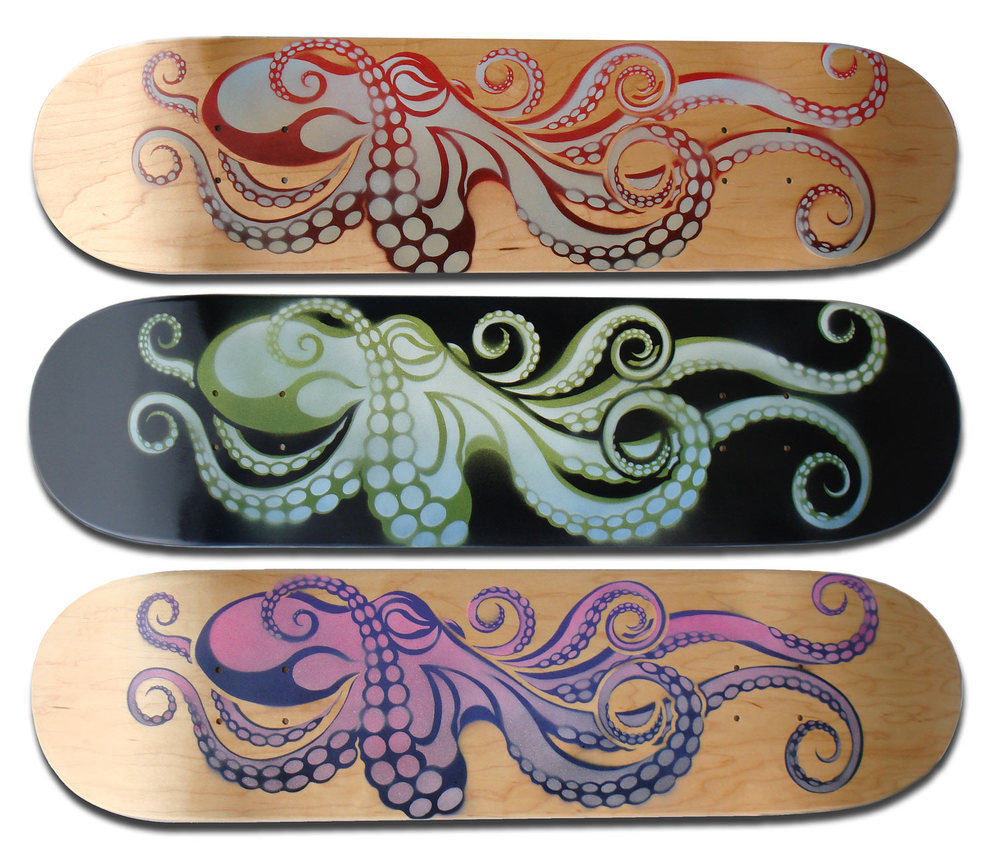 """MONO Octo"" Skateboard Deck Series"