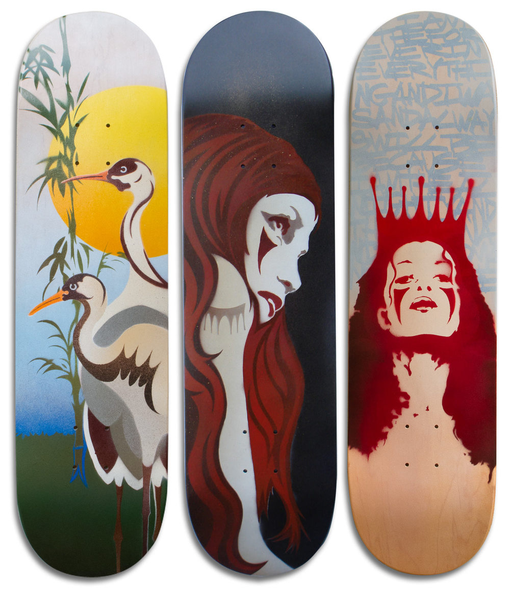 Cranes/MONO Girl/MONO Queen Skateboard Deck Series