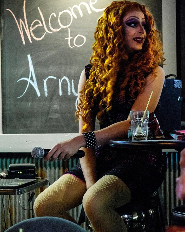 Under The O … - Local drag queen Kara Fiyera had a ball (was it I-29 or O-69?) calling numbers during drag bingo at Arny's 2.0 Lounge and Bottle Shop during Pride Night at Arny's on September 20, 2018.