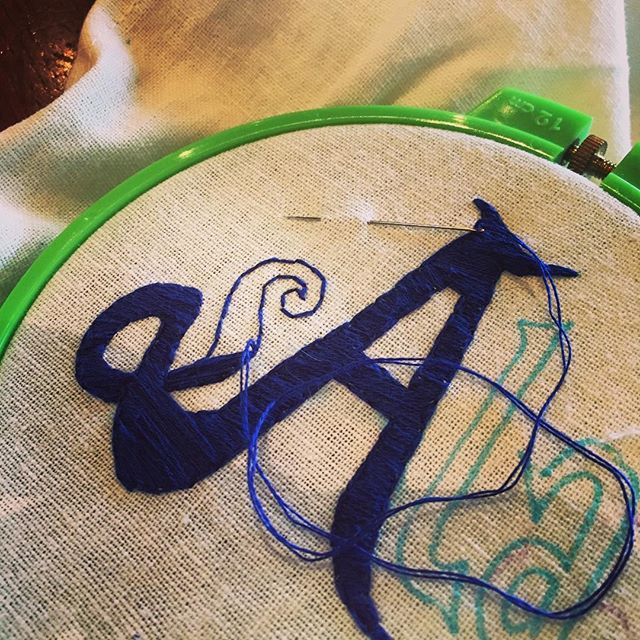 Coffee and embroidery with @scottandrewolson