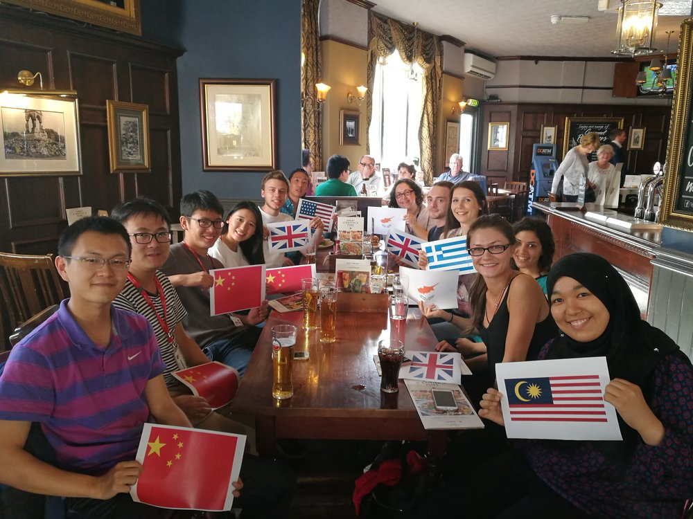 Celebrating Anna Constantinou's award. Summer 2016. From left to right: Yichao, Tian, Lihui, Hanyi, Samuel, Justin, Theoni, Dean, Katerina, Anna, Laura and Nik.