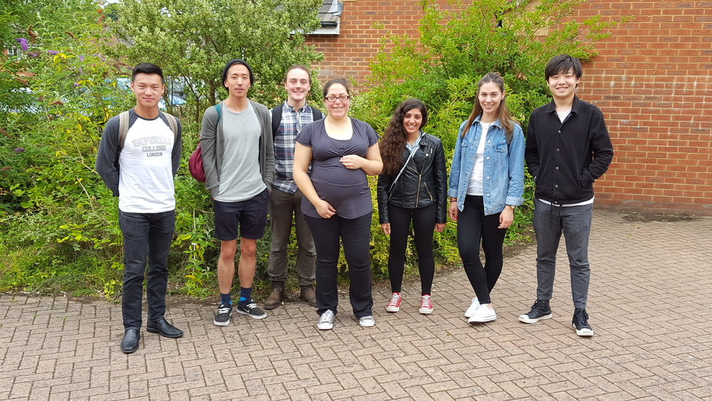 July 2017, A group picture after a BBQ. From left Will, Justin, Dean, Theoni, Anna, Birsen & Xinmo.