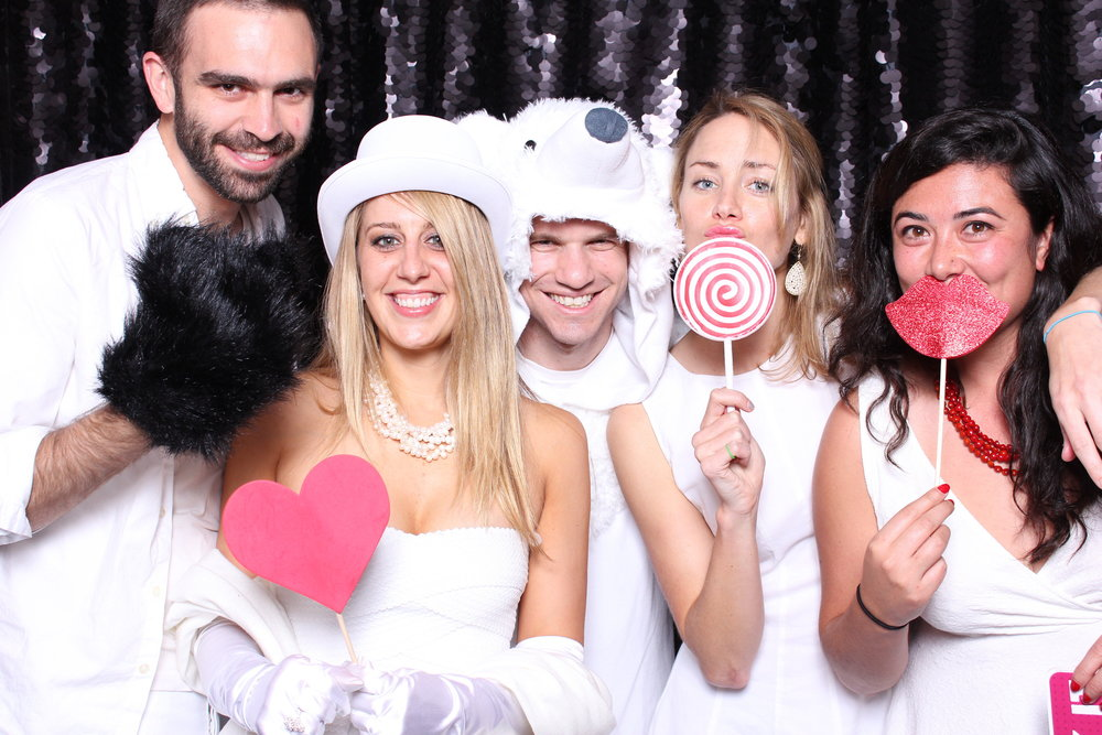 White party photobooth