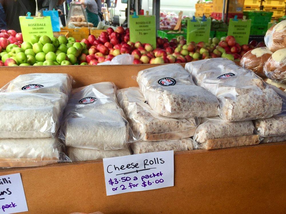 cheese rolls Otago Farmers' Market