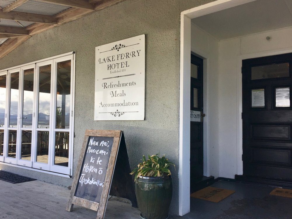 Lake Ferry hotel entrance