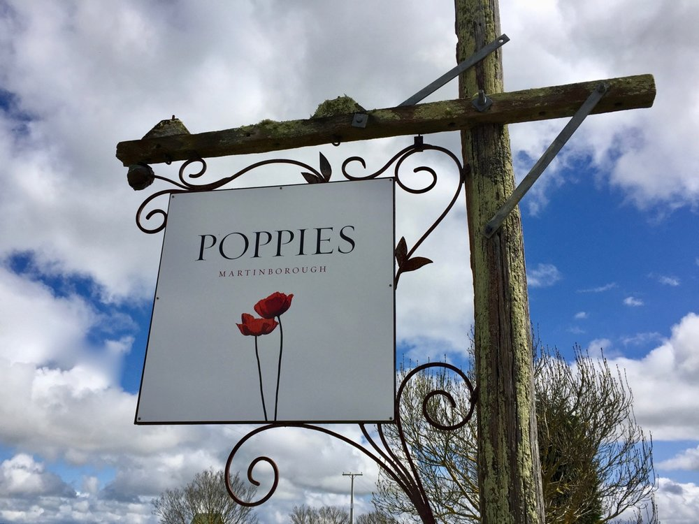 Poppies, Martinborough food trail