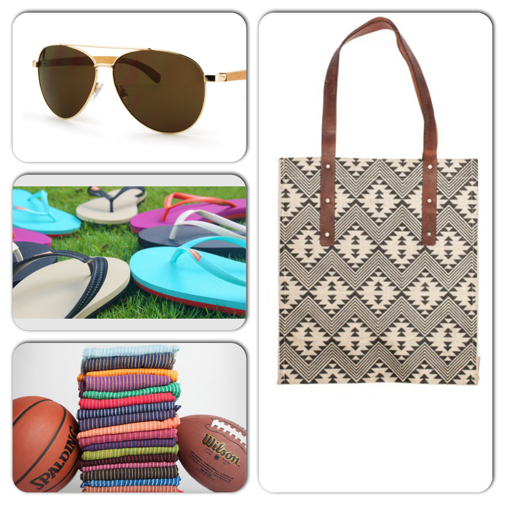 RAVEN & LILLY BAG, BLUE PLANET AVIATOR GLASSES, FEELGOODZ FLIP FLOPS, LIVE FASHIONABLE GAME DAY SCARVES