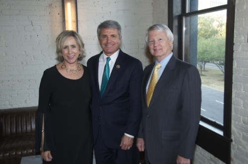 """Annette Leslie  Congressman McCaul Wayne Roberts, CEO of Cancer Prevention and Research Institute of Texas"""""""