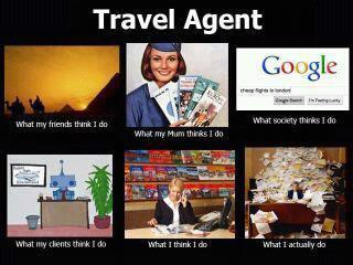 What a travel agent does