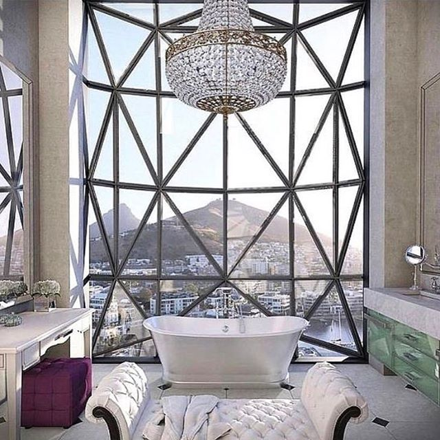 How's this for #bathroomgoals ❤️| Loving the #design of the new @thesilohotel_ in #CapeTown | Imagine ending your day here with a #bubblebath and a glass of #champagne 🍾🛁 | 📸 @thesilohotel_ via @thesmartflyer