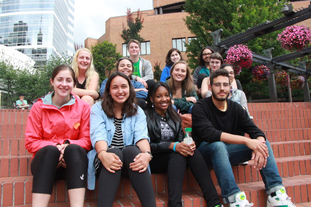 On Friday June 25th, the Summer Documentary Program students arrive at Pioneer Place in downtown Portland.