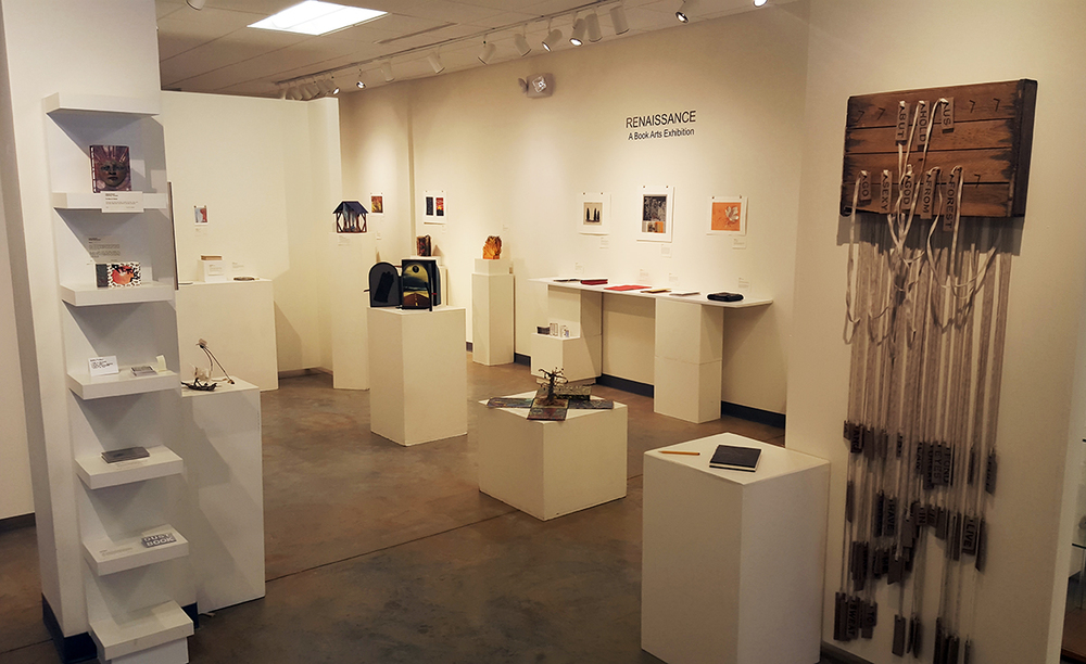 Renaissance: A Book Arts Exhibition, featuring work by members of three groups: Triangle Book Arts, the Book & Print Arts Collective from Asheville, NC, and The Open Press from Chattanooga, TN. On view at FRANK Gallery in Chapel Hill until Sept. 6th.