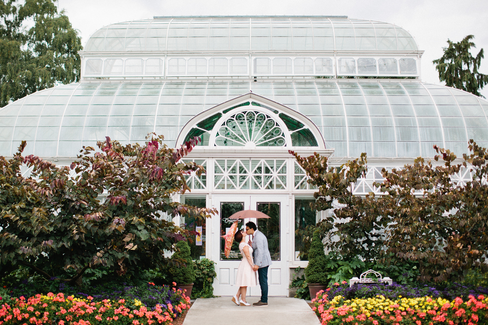 Volunteer Park Conservatory elopement in Seattle.