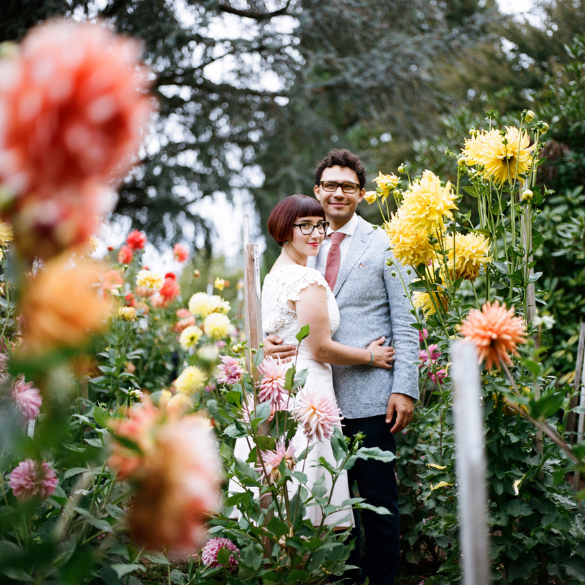 Reception in the park from a Volunteer Park Conservatory Elopement.