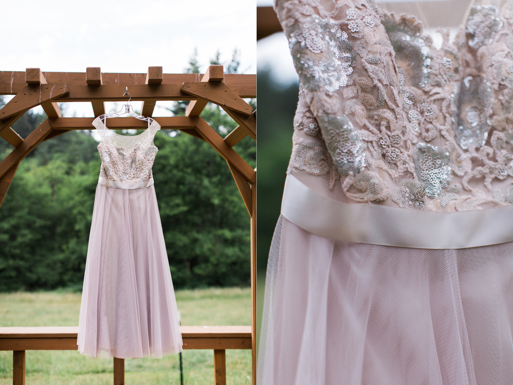 Watters lavender wedding dress for a western Washington elopement.