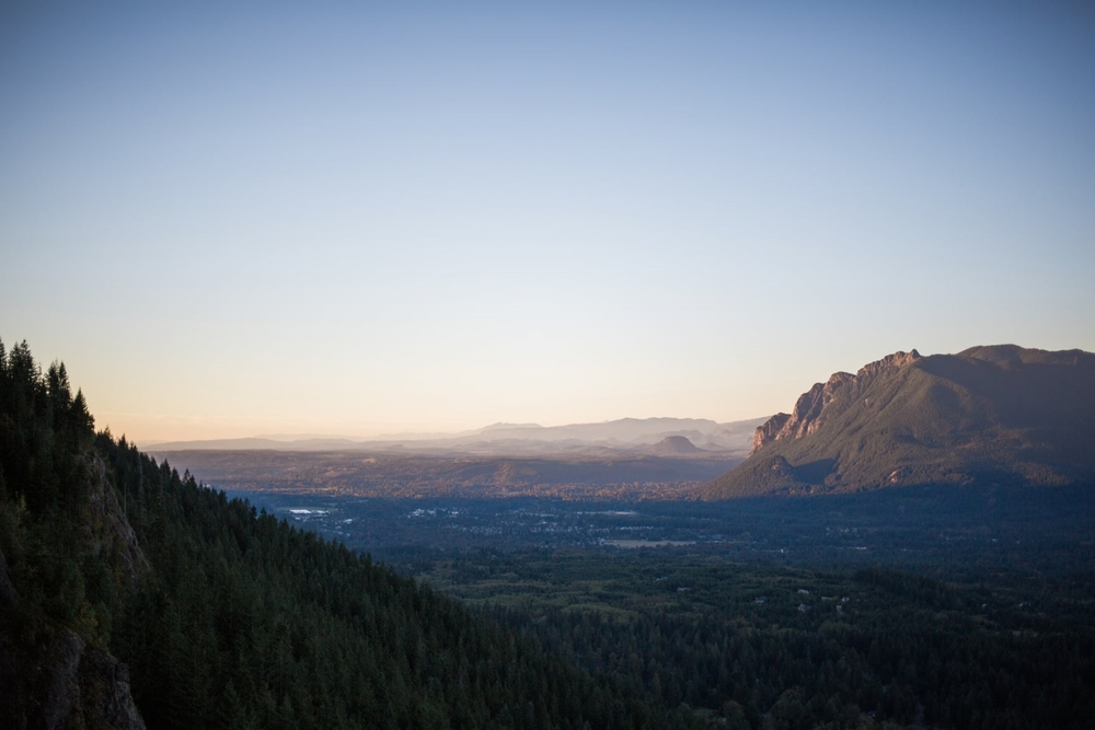 Sunset from Rattlesnake Ledge by Alexandra Knight Photography