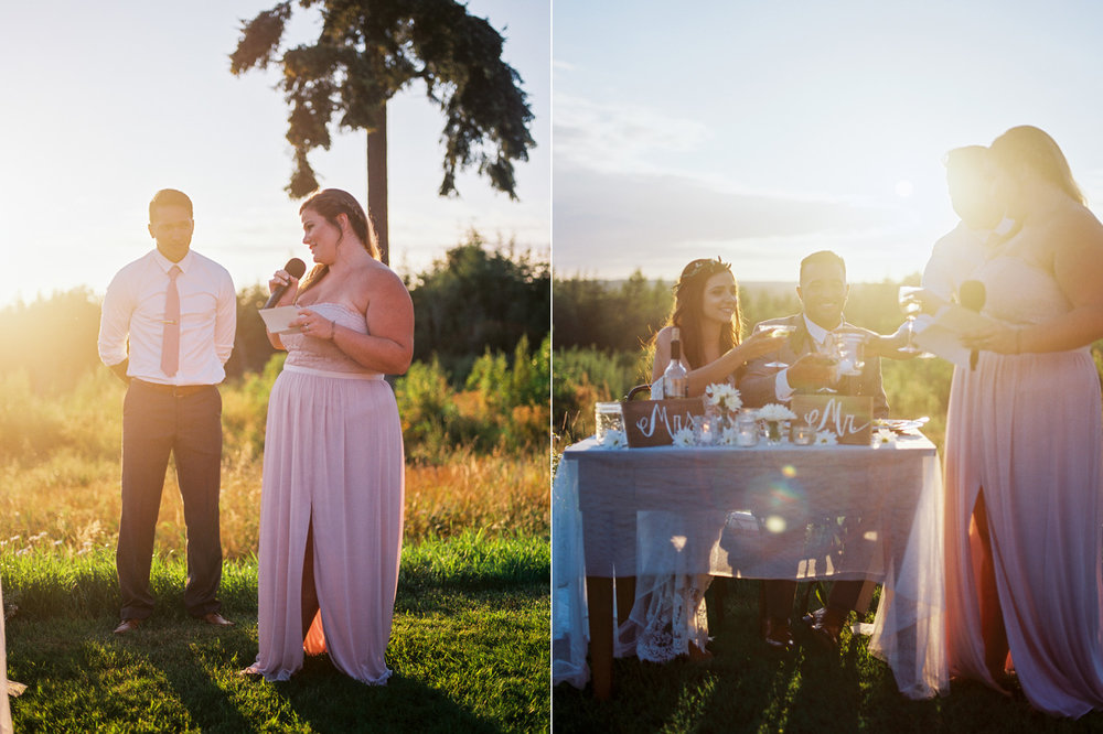 Polynesian Inspired Colorful Backyard Port Townsend Wedding Photography