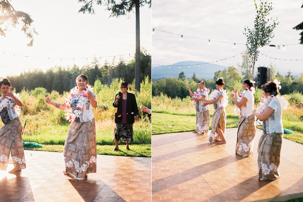 Polynesian Inspired Backyard Port Townsend Wedding Photography