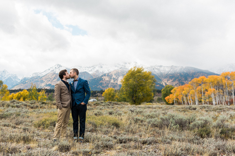 Grand Tetons National Park Same Sex Wedding